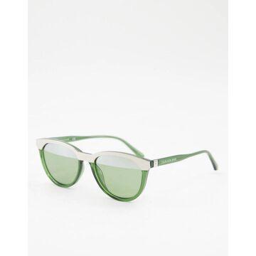 Calvin Klein Jeans CKJ10519S split color sunglasses-Green