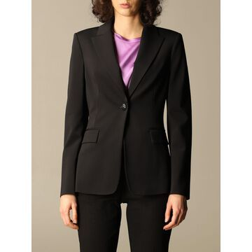 Single-breasted jacket Sigma 2 Pinko in scuba fabric stitch