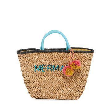 Mermaid Large Seagrass Tote Bag