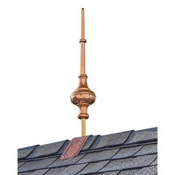 Good Directions Morgana 28-Inch Rooftop Finial in Copper