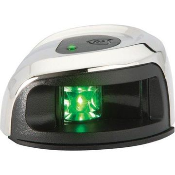 Attwood Marine LightArmor LED 2 nm Vertical Surface Mount Starboard Side Light with Green Lens