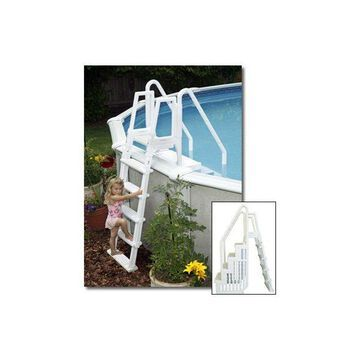 Blue Wave Easy Pool Step with Outside Ladder