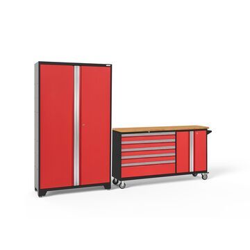 NewAge Products Bold Series 3.0 2-Pc. Cabinet Set - Red
