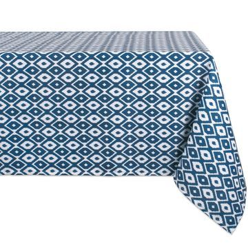 Design Imports Ikat Outdoor Tablecloth