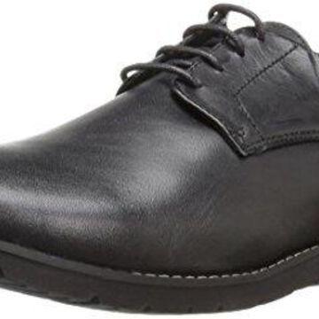 Propet Men's Grisham Oxford, Black, 9.5 3E US