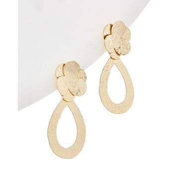 Kenneth Jay Lane Plated Drop Earrings
