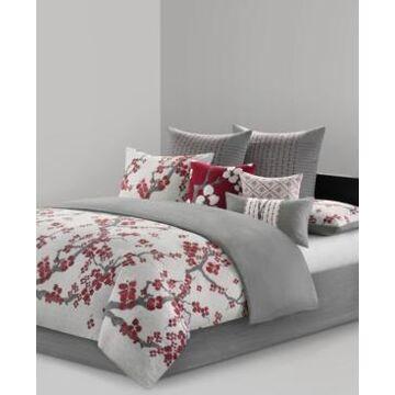 Natori Cherry Blossom Queen 3 Piece Comforter Mini Set Bedding