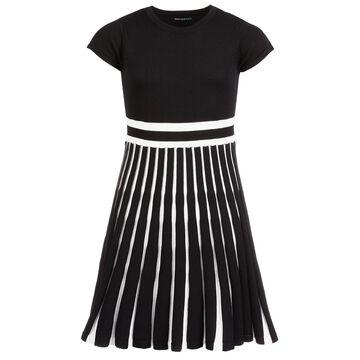 Big Girls Accordion-Skirt Dress