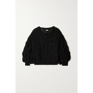 Loewe - Cable-knit Mohair-blend Sweater - Black