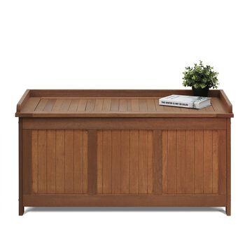 Furinno Tioman Outdoor Series Hardwood Deck Box, FG17685