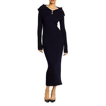 Lanvin Wool Midi Sweater Dress