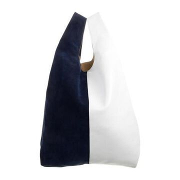Leather Handle Bag White