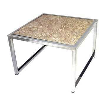 LS Dimond Home Hand Carved Coffee Table