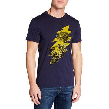 Men's Grateful Dead Skeleton Bolt Graphic Cotton T-Shirt