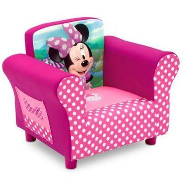 Delta Children Disney Minnie Mouse Upholstered Chair In Pink