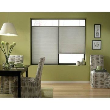 First Rate Blinds Silver Cordless Top Down Bottom Up 35 to 35.5-inch Wide Cellular Shades