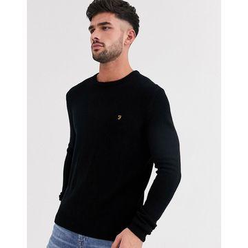 Farah Rosecroft wool crew neck sweater in black