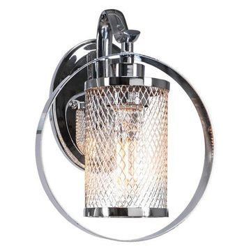 Infinity Wall Sconce In Chrome Finish W/Amber Antique Led Bulb (1612-CH-LED18C)