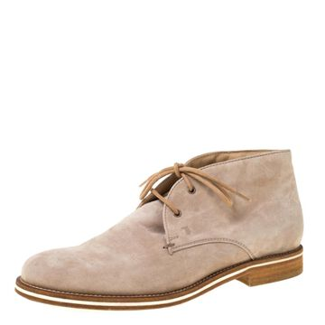 Tod's Beige Leather Boots