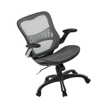 ''Office Star Mesh Back & Seat, 2-to-1 Synchro & Lumbar Support Managers Chair,...''