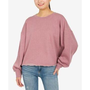 Hippie Rose Juniors' Burnout Sweatshirt