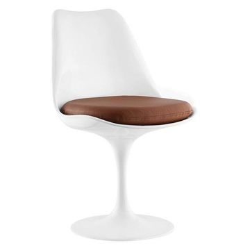 Modway Modway Lippa Dining Vinyl Side Chair, Tan