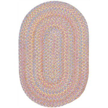 PT08R096X132 8 x 11 in. Playtime Pink & Multicolor Oval Rug