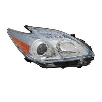 Headlight Depo - 10-11 Toyota Prius Halogen Head Lamp RIGHT HAND / PASSENGER SIDE NSF Certified
