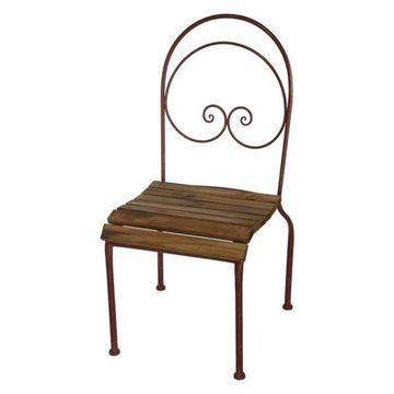 A&B Home French Chic Garden Annie Metal Garden Chair