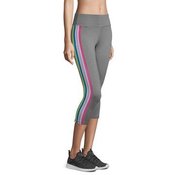 Xersion Mid Rise Striped Capris