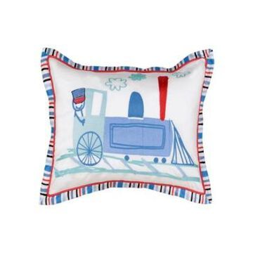 """Waverly Kids All Aboard Embroidered Decorative Pillow, 14"""" x 20"""" Bedding"""