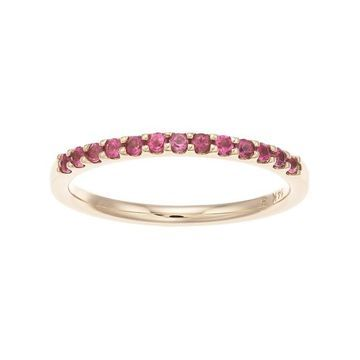 Boston Bay Diamonds 14k Gold Pink Tourmaline Stack Ring