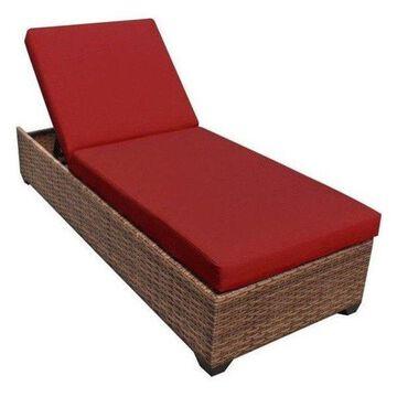 TK Classics Laguna Wicker Patio Lounge, Terracotta