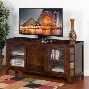 Sunny Designs Santa Fe TV Console - Dark Chocolate