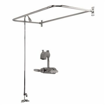 Barclay Brilliant Polished Chrome 2-Handle Bathtub and Shower Faucet with Valve