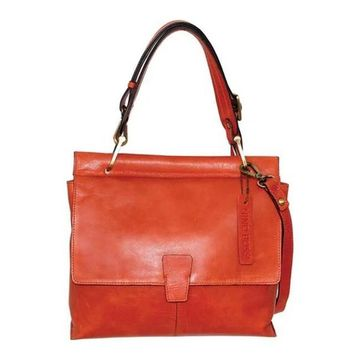 Nino Bossi Women's Jania Leather Shoulder Bag Orange - US Women's One Size (Size None)