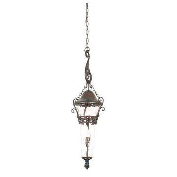Kalco 3-Light Outdoor Exterior Hanging Pendant Lantern, Tawny Port
