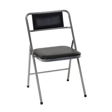 Cosco Stylaire Vinyl Padded Folding Chair, 4-Pack