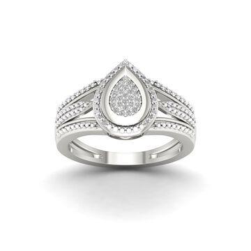 De Couer 1/10ct TDW Diamond Engagement Ring - White