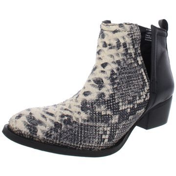 Diba True Womens Ankle Boots Leather Snake Print