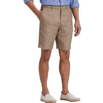 Joseph Abboud Tan Men's Modern Fit Linen Shorts - Size: 34W