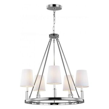 Feiss Lismore 5-Bulb Polished Nickel Chandelier