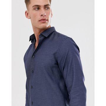 Selected Homme BCI cotton regular fit shirt-Blue