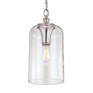 Feiss Hounslow 1-Light Pendant In Brushed Steel