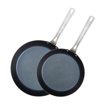 "Viking 2-Pc. 10"" & 12"" Blue Carbon Steel Fry Pan Set"