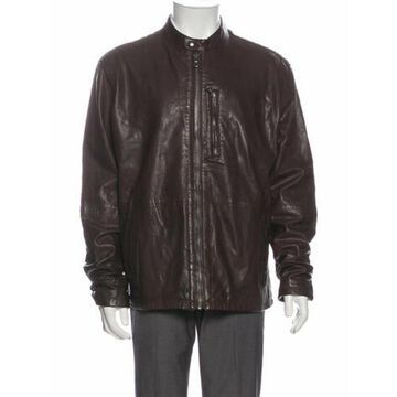 Lamb Leather Moto Jacket w/ Tags Brown