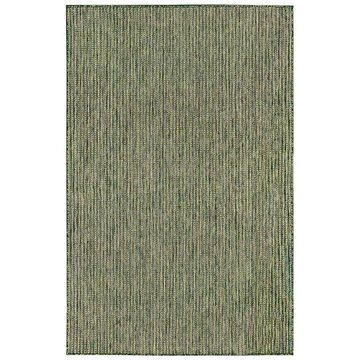 Liora Manne Carmel Textured Stripe Indoor Outdoor Rug, Green, 3X5 Ft