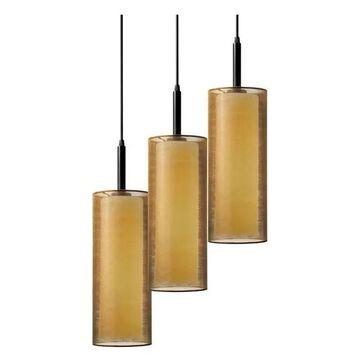 Sonneman Puri 3-Light Pendant in Black Brass - 6003-51F