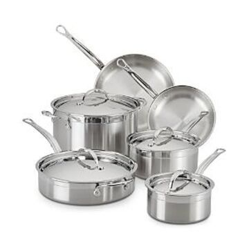 Hestan ProBond Forged Stainless Steel 10-Piece Cookware Set
