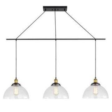 Woodbridge Lighting 18326CBZWL-C012 Fulton 3-light Linear Pendant w/ ST64 Bulb